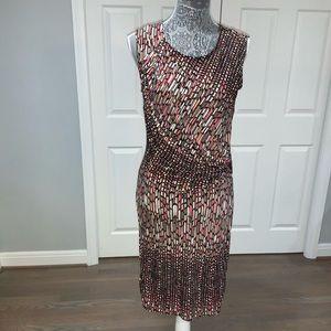 📂NIC+ZOE DRESS Chic Design Cap Slv w/rouching MP